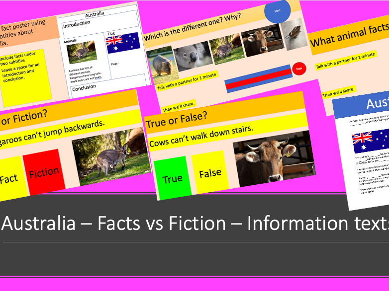 Australia - Fact vs Fiction - Reading comp and game