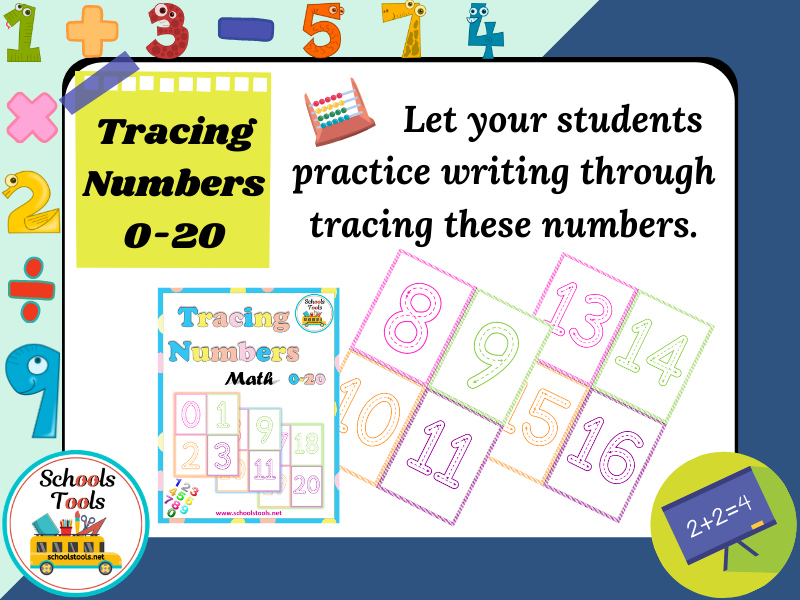 Tracing Numbers 0-20