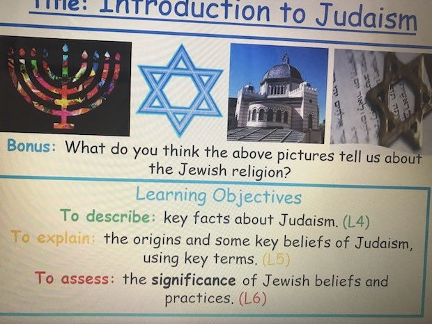 KS3 Introduction to Judaism - Lesson 1