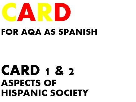 SPEAkING CARDS 1 & 2 for AQA AS SPANISH (new specification)