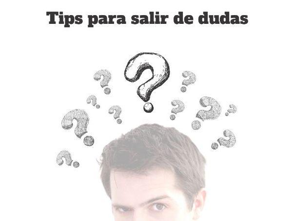Pósters para la clase de español: Tips para salir de dudas