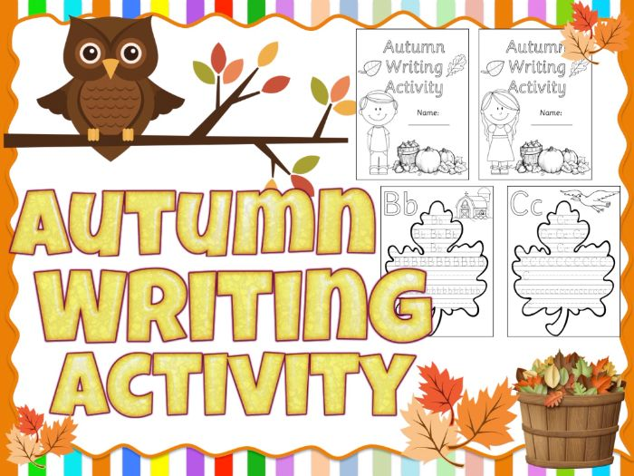Autumn Writing Activity - Alphabet Tracing - Sassoon Font