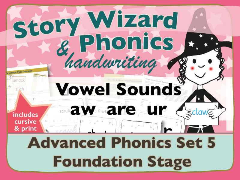 Advanced Phonics Set 5: Vowel Sounds AW ARE UR