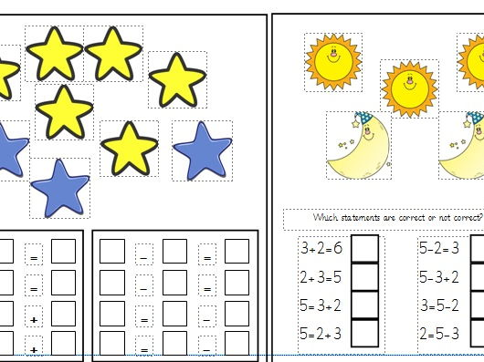 Addition and Subtraction Fact Families Differentiated Worksheets Year 1 (White Rose)