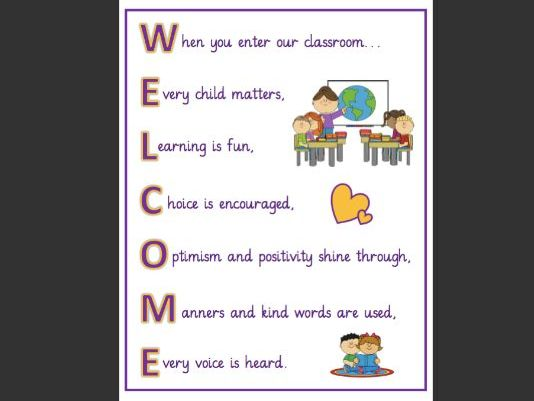 Welcome to our Classroom Sign
