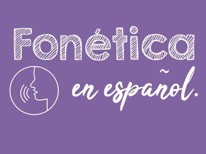 Spanish Phonics display and bookmark