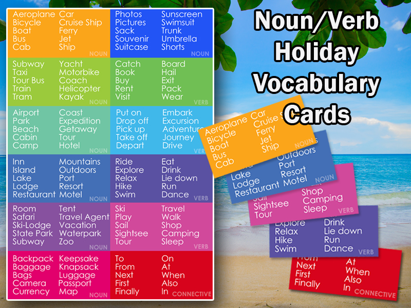 Holiday Themed Flash-Cards for MFL/ESL