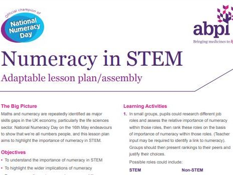 National Numeracy Day Lesson/Assembly Plan with resources for key stages 3, 4 and 5