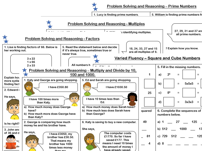 White Rose Maths - Year 5 - Block 4 - Multiplication and Division (Problem Solving and Reasoning Practice)