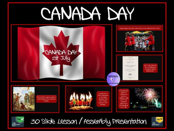 Canada Day PowerPoint Lesson / Assembly Presentation - (1st July) - 150th Birthday