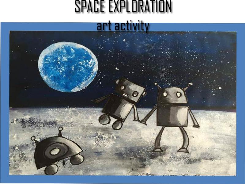 Textures art activity : Space exploration