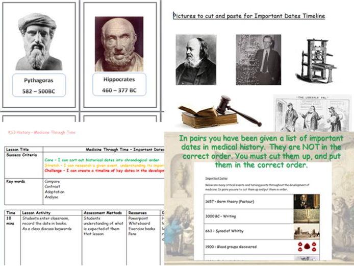 Medicine Through Time - KS3 History SEN lesson