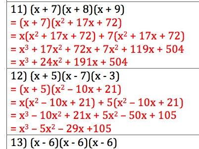 GCSE Maths - 30 Q & A - Expanding Triple Brackets