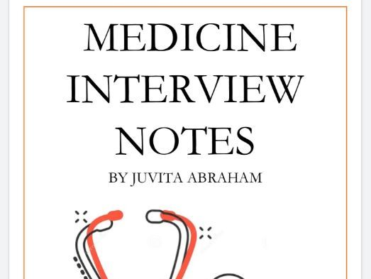 Medical School Interview notes