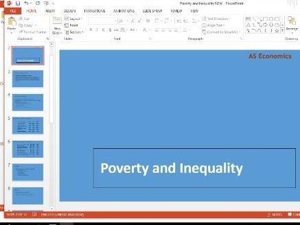 Economics - Poverty and inequality