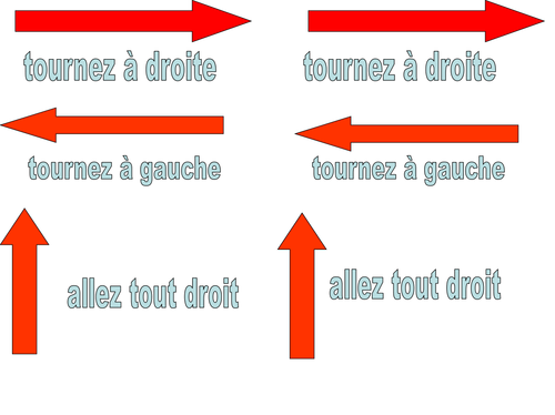 Activities on directions in French