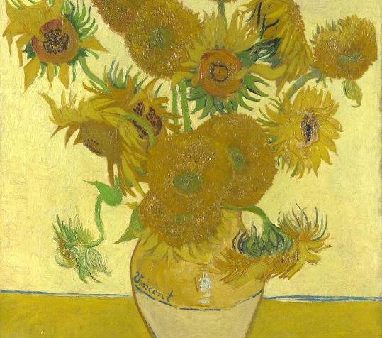 Vincent Van Gogh Sunflowers art & Design worksheets