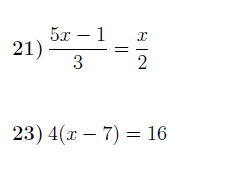 Solving linear equations worksheets  (with solutions)