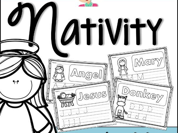 Christmas Nativity Handwriting Tracers PreK (USA Edition)