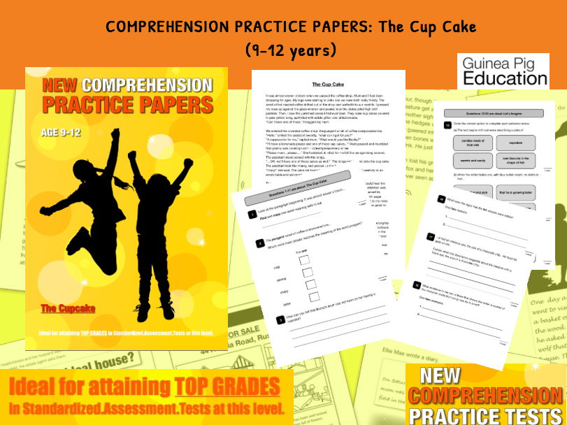 Practise SATS Tests (The Cup Cake) 9-12 years