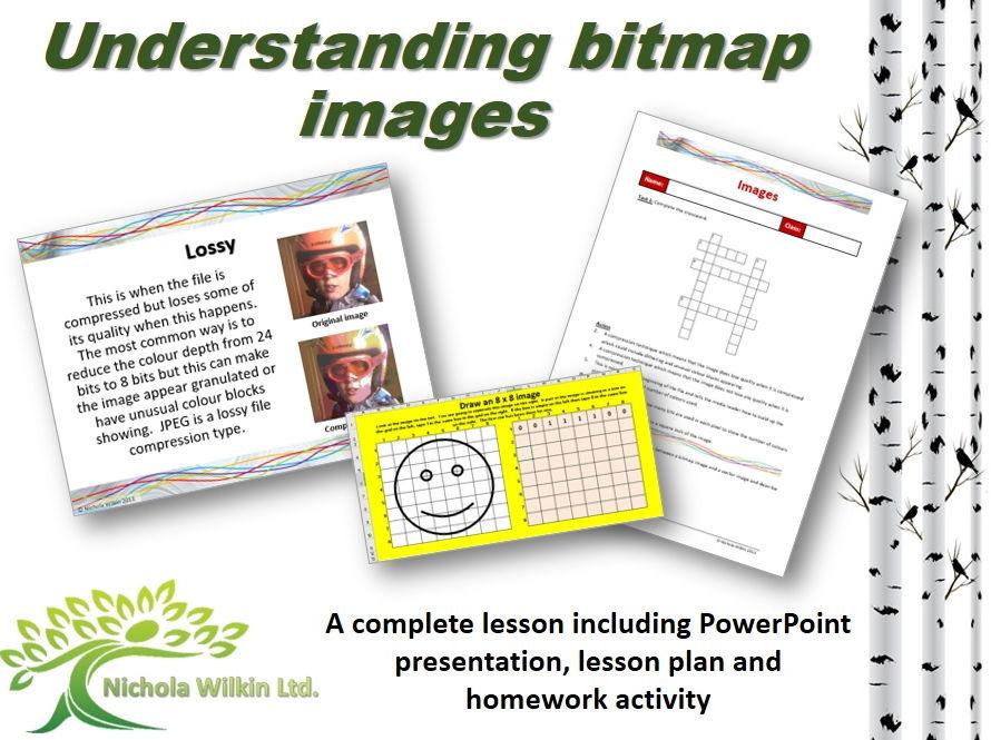 Understanding Bitmap Images (GCSE Computer Science & KS3 Computing)
