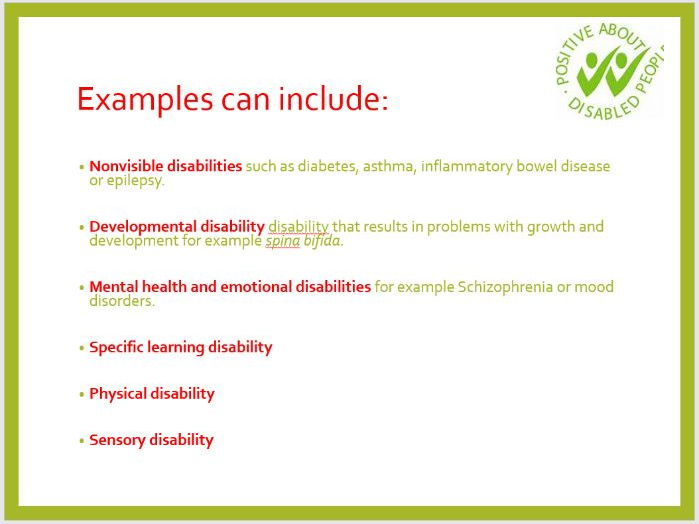Disability & Equality presentation