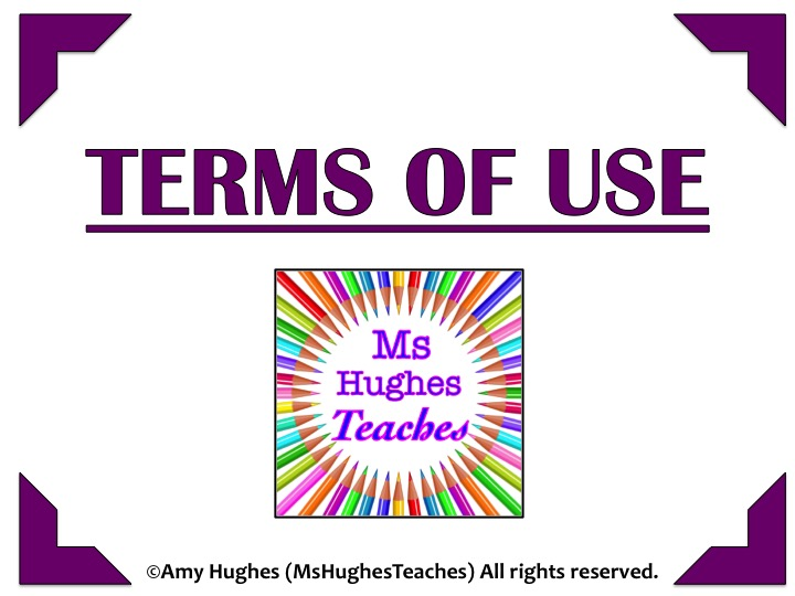 TERMS OF USE- Ms Hughes Teaches