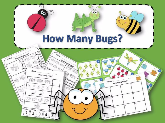How Many Bugs Counting Activity Package