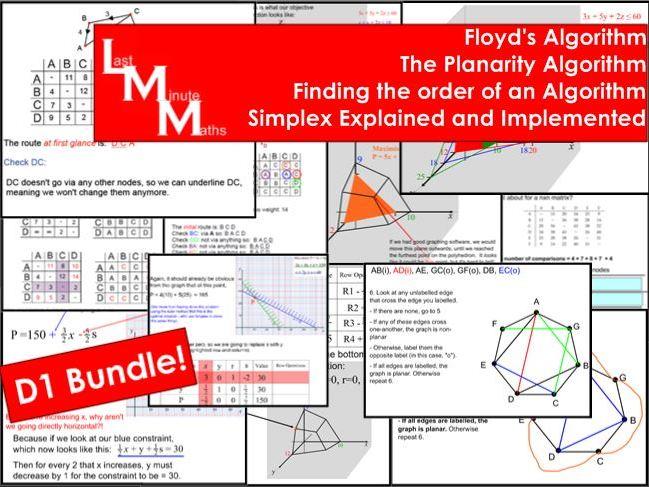 Decision 1 Bundle: Floyd's, Planarity, Order, Simplex