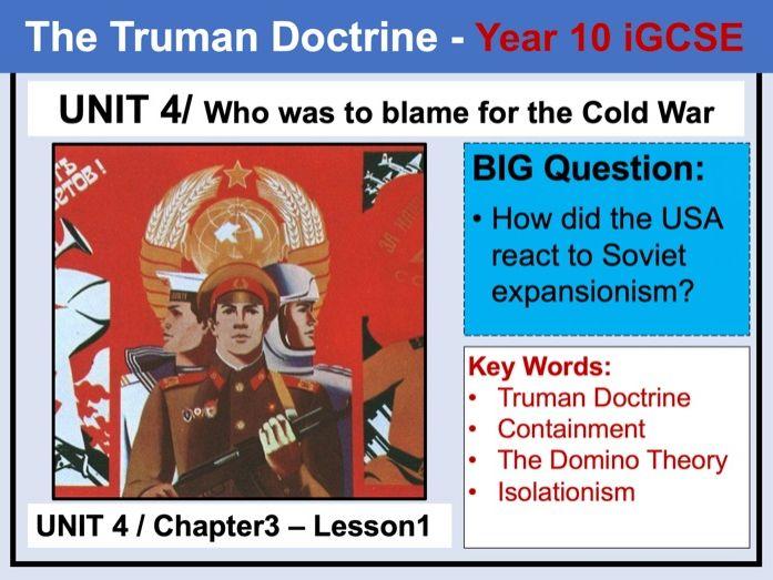 Cambridge  IGCSE History - Unit 4 - Chapter3 - Lesson1