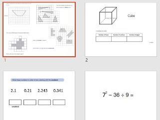 Y6 KS2 Maths revision Set 2