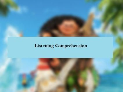Song Moana You're Welcome by Dwayne Johnson comprehension worksheets with keys