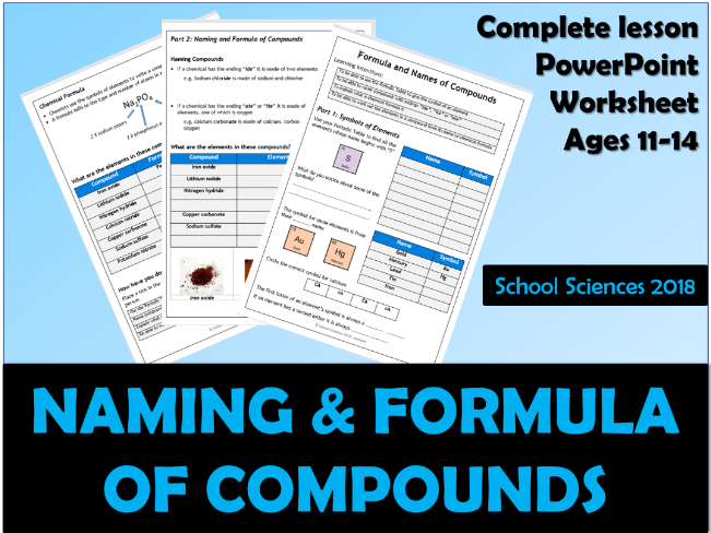 Naming and Formula of Compounds ages 11-14