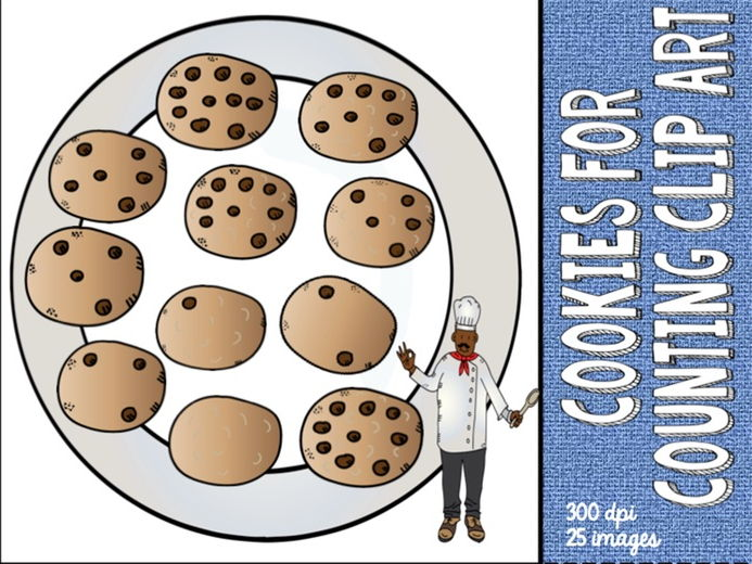 Counting Cookies - number bonds to 10 - Clip art