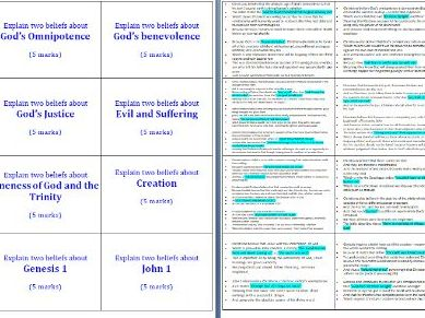90 Exemplar Christianity Exam Style Question Cards - 4 and 5 markers