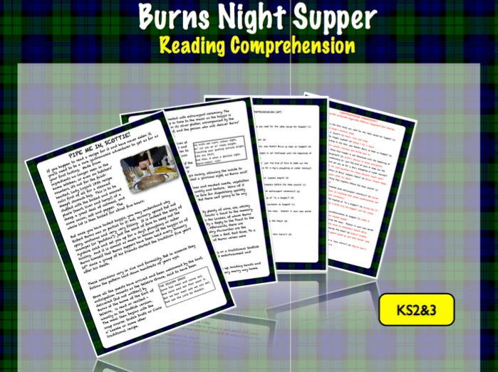 Reading Comprehension: Burns Night Suppers KS2/3