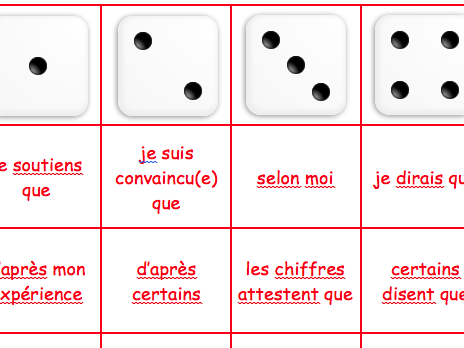 French : Giving Opinions Activity (Differentiated)