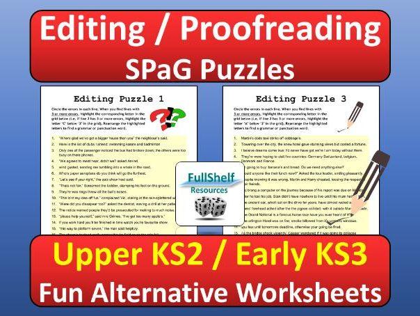 Editing / SPaG KS2 / KS3