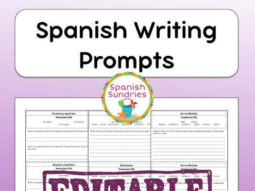 Spanish Writing Prompts