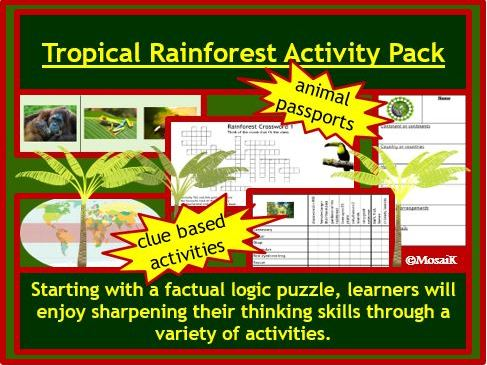 ESL KS2 Rainforest Thinking Activities
