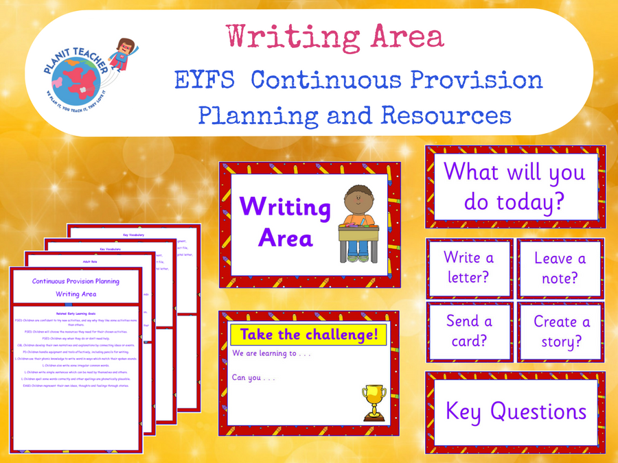 EYFS Writing Area - Continuous Provision Planning and Resources