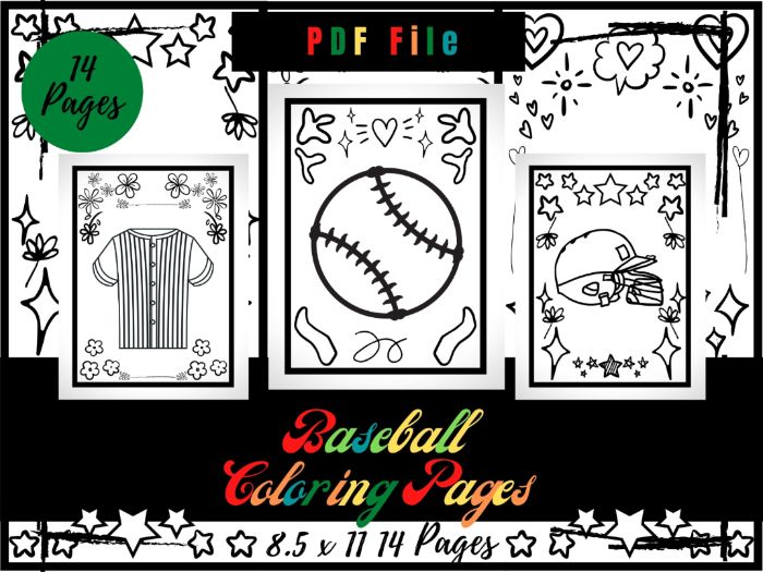 Baseball Coloring Pages For kids, Sport Coloring Sheets PDF, Printable Pages