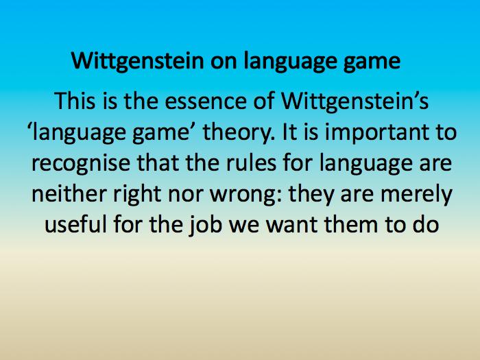 Religious Language - Wittgenstein