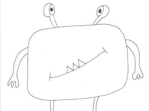 Monsters and Aliens Colouring Page (Creature 5)
