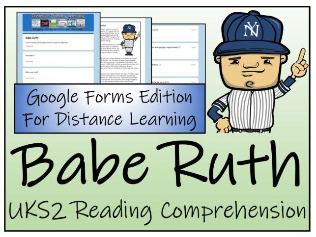 UKS2 Babe Ruth Reading Comprehension & Distance Learning Activity