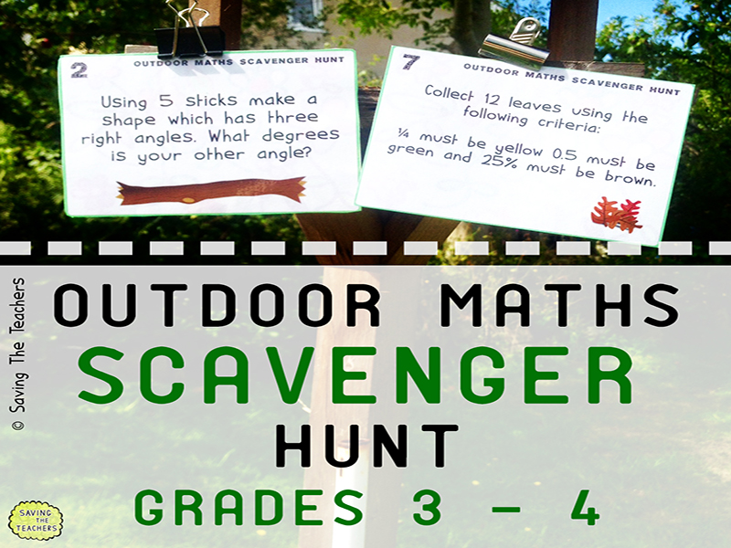 Math Scavenger Hunt Activity: Years 4 and 5