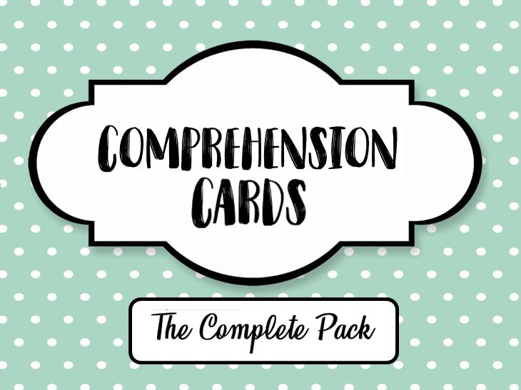 Comprehension Cards
