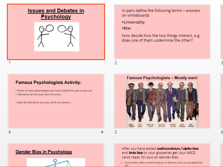 Issues and Debates PowerPoint to Accompany Booklet