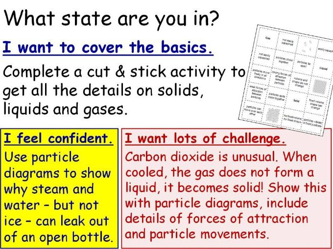 Particle Theory (States of Matter) Year 7 Lesson PowerPoint (KS3 7Gb) Particles Solids Liquids Gases
