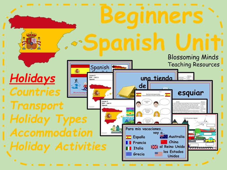 Spanish Unit - KS2 - Holidays